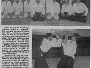 juin 1983 : Aïkido avec l'U.J.B