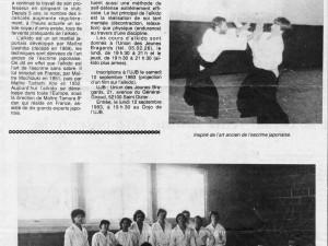 6 septembre 1983 : L'Aïkido Ecole de vie