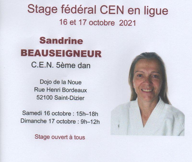 Stage federal 16 /17 octobre 2021