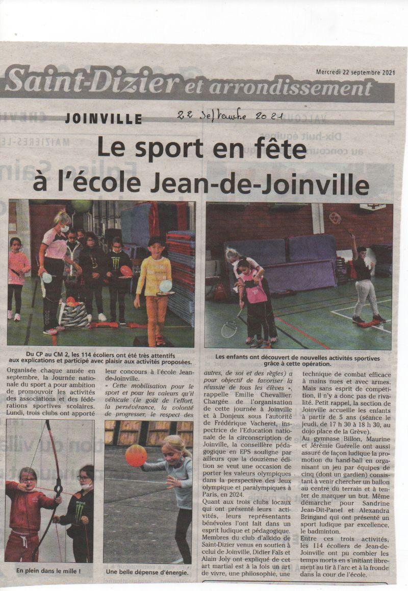 l'aïkido présent à école JEAN de JOINVILLE